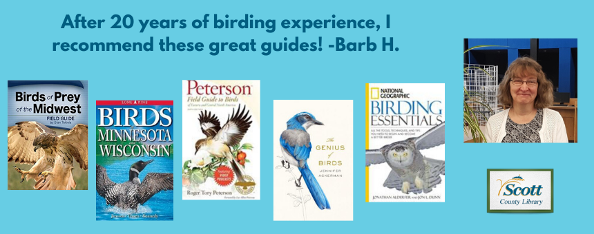 For the Birds by Barb H (5 Titles): Birds of Prey of the Midwest by Stan Tekiela; Birds of Minnesota