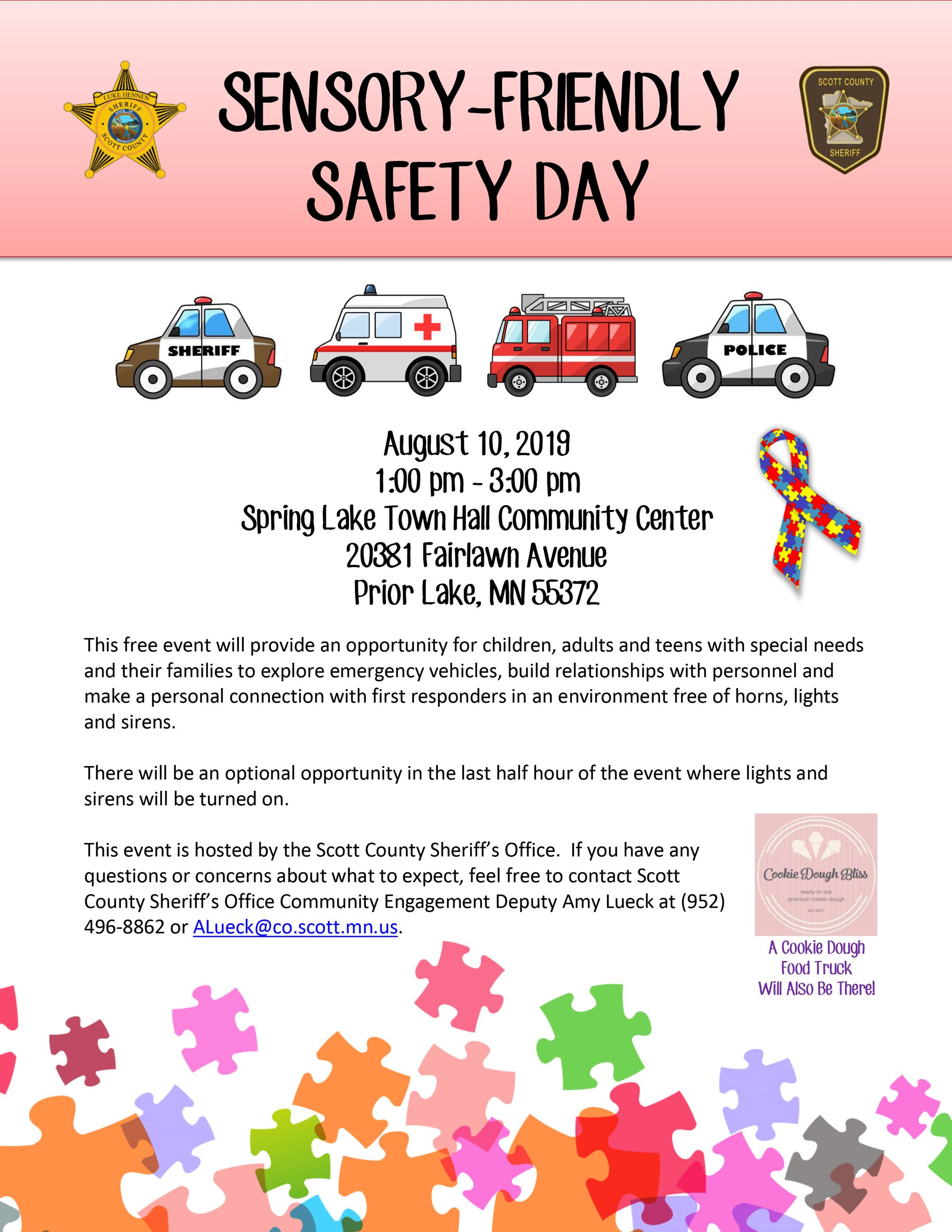 SCSO Sensory-Friendly Safety Day Flyer